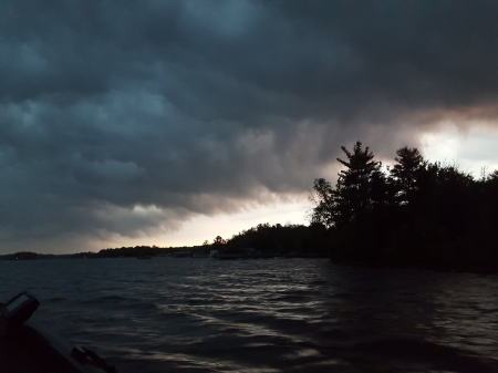 Stormy Morning - michigan, water, storm, clouds