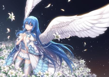 Sexy anime angel girl
