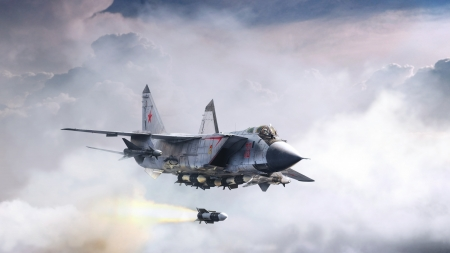 Mig-31 Artwork - Russian Air Force, Jet, Art, Artwork, Jets, Mig 31