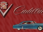 1948 Cadillac Blue vintage advertising art