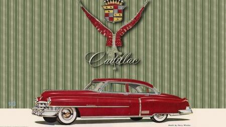 1950 Cadillac Ad Art