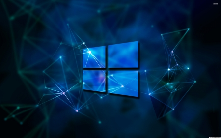 windows 10 - windows, lines, dots, square