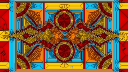 Art Deco Orange And Blue Glass Other Abstract Background