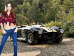 Raisa with a Ford Cobra
