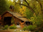 Old Autumn Barn