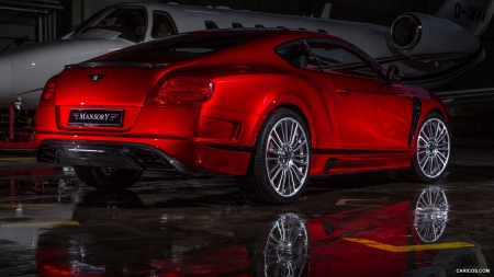2013 Mansory Sanguis based on Bentley Continental GT - Red, Bentley, Mansory, Sanguis, Tuned, Car, Luxury, Plane, Continental, Tuning