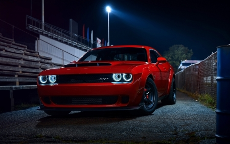 Dodge Challenger 2017 - red, challenger, car, 2017, Dodge, fast