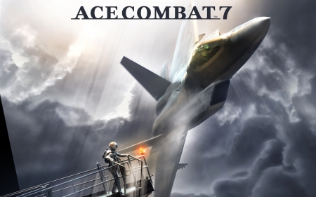 Ace Combat 7 - Ace, games, 2017, 7, combat, video