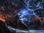 League of Legend battle