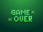Game Over Pixel Green