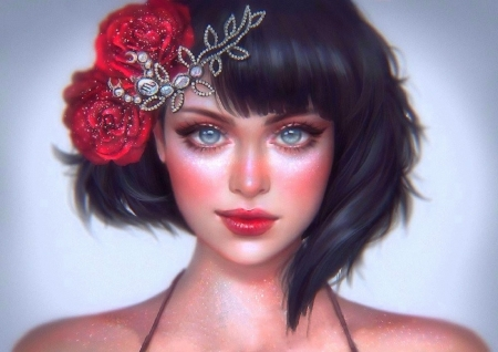 Scorpio - The Star Signs - love four seasons, digital art, woman, paintings, girl, weird things people wear, flowers, drawings, other