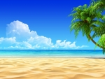 Beach with White Sand