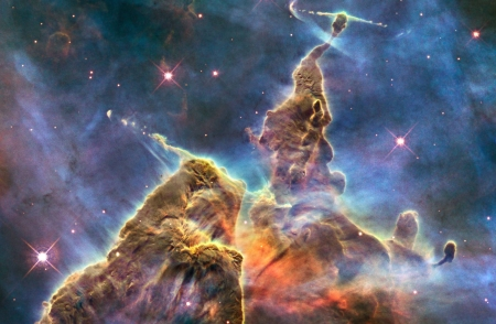 Mountains of Dust in the Carina Nebula - stars, cool, nebula, space, fun, galaxies