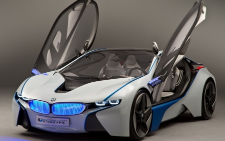 BMW i8 - cars, white cars, BMW i8, bmw, vehicles