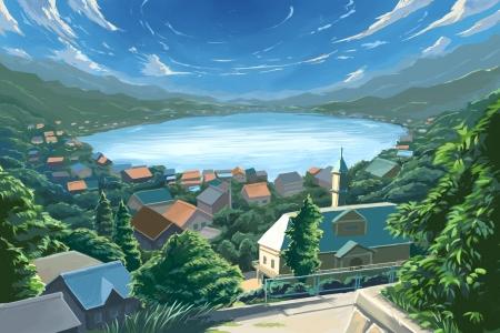 Anime Village Other Anime Background Wallpapers On Desktop Nexus Image