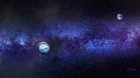 Beauty in Space - planets, stars, sky, earth, milky way, space
