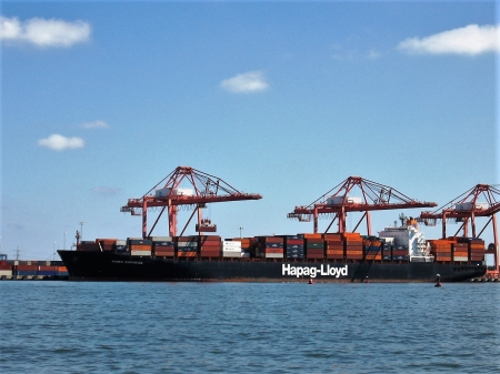 Container Ship - Portsmouth, Container Ship, Commercial Ships, Virginia
