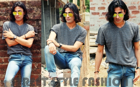 Street fashion life summer season 2017 - clothes, street fashion ma, isolated, fashion trends, background, outdoors, bricks background, brick, street fashion model, stripe pattern, handsome, hand, beauty, face, indian model, man, sexy, happy, cool, men, asian, beautiful male, adult, guy, long, rajkumar patra, beautiful, sunglasses, hair, young, caucasian, expression, long hair men, person, people, lifestyle, hot, hunk, blue, casual, gorgeous, outside, shirt, male, striped background, model, indian, fashion lifestyle, one, men on bricks, wall, teenager, jeans, urban, attractive, summer, portrait, looking