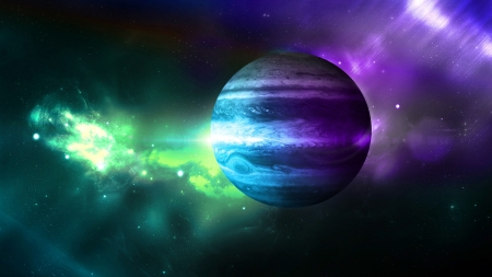 Saturn - planets, 3d, space, digital art, galaxies, saturn
