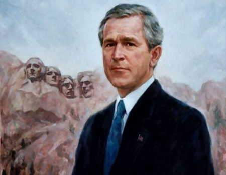 President George W. Bush - art, president, beautiful, illustration, artwork, people, painting, George W Bush, Bush