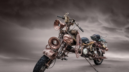 Steampunk Bike - Bike, Hoses, Helmet, Custom