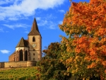 Autumn Church in France
