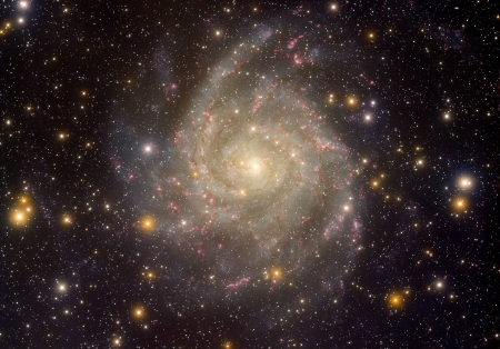 Hidden Galaxy IC 342 - stars, fun, cool, galaxies, space
