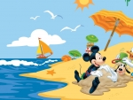 Mickey on the beach