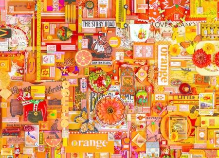 Orange Collages Abstract Background Wallpapers On Desktop Nexus Image 2278694