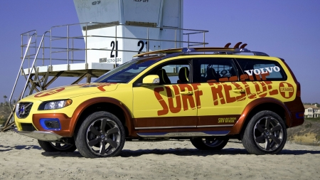 Volvo XC70 Concept - Surf Rescue - Surf, Volvo, Car, Rescue, XC70, Emergency, Concept