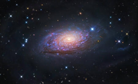 Messier 63 The Sunflower Galaxy - stars, fun, cool, galaxies, space