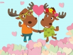 Moose Loving Couple