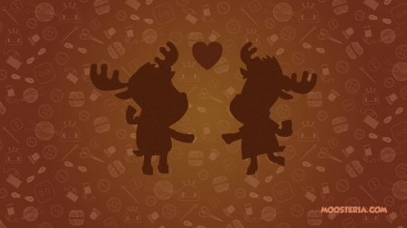 Handmade Moose Love - moose, craft stuff, handmade, crafts, hearts, handmade toys, wallpaper, love, moosteria