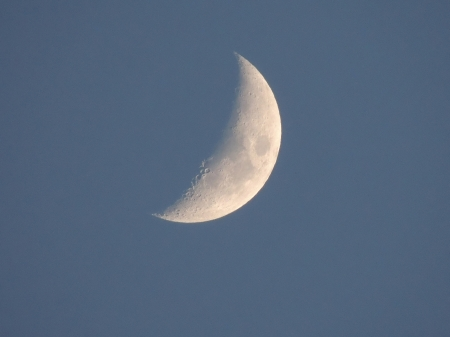Evening Moon In July - Moon, Evening Moon, Space, Photography, Sky