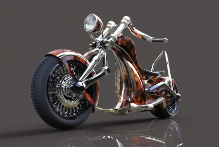 custom chopper - bike, custom, motocycle, chopper