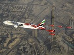 Red Arrows Over Dubai
