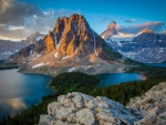 Sunset light upon Mount Assiniboine, Canada