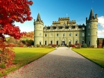 Inverary Castle at Autumn, Scotland