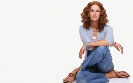 Julia Roberts In Blue - Acstress, Roberts, People, Woman, Julia, Pretty, Blue, Beautiful