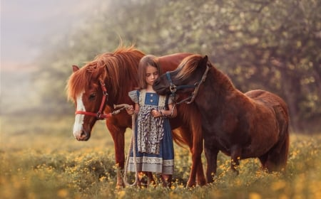 :-) - copil, little, animal, poney, girl, child, horse, cute, cal