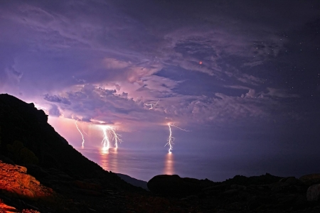Lightning Eclipse from the Planet of the Goats - fun, cool, forces of nature, nature, lightning