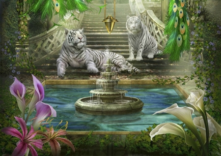 Mystic Garden Fantasy Abstract Background Wallpapers On Desktop