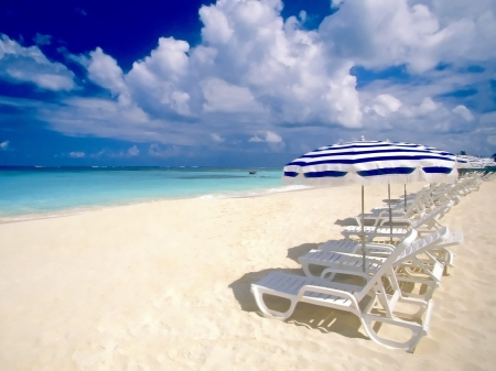 beach - beach, chairs, sand, vacation
