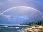 Rainbow Above the Sea