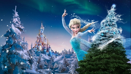 Frozen Christmas.Christmas Frozen Fantasy Abstract Background Wallpapers