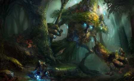 Forest Guardian Fantasy Amp Abstract Background Wallpapers