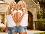 Blondes eating IceCream
