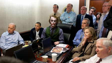 Joker among politicians - JOker, humor, obama, funny