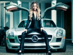 Girl and Mercedes SLS
