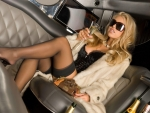 blonde in limousine